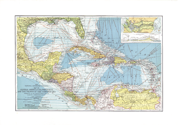 Central America, Cuba, Porto Rico, and the Islands of the Caribbean Sea - Published 1913