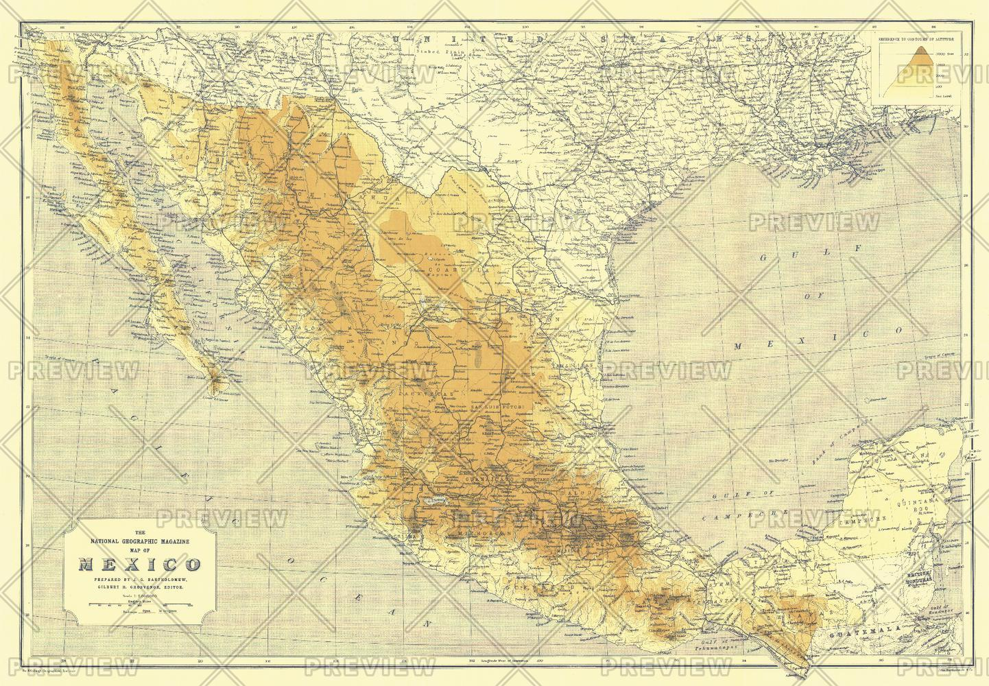 Mexico - Published 1914