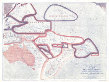 Sovereignty and Mandate Boundary Lines of the Islands of the Pacific - Published 1921
