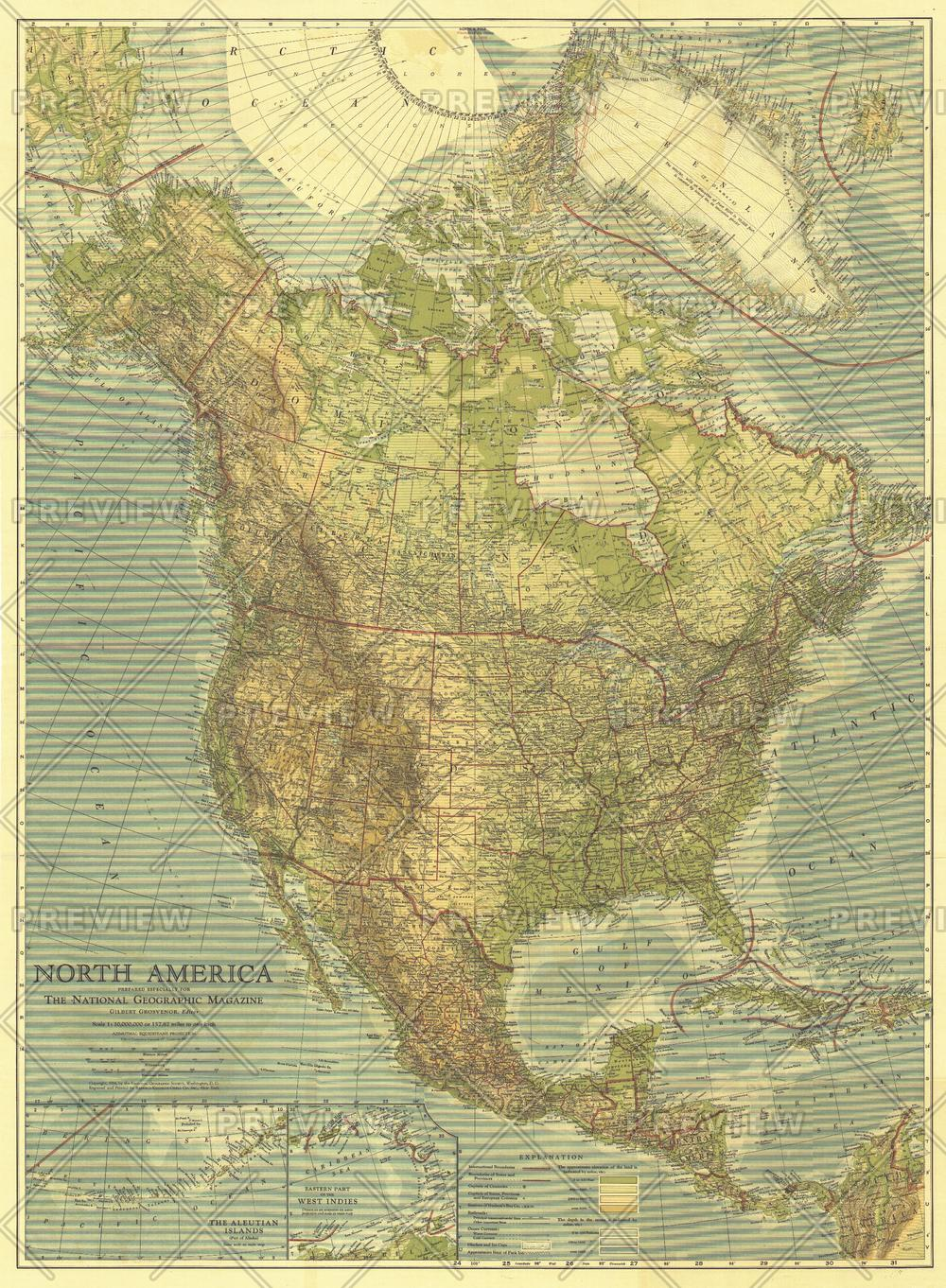 North America - Published 1924