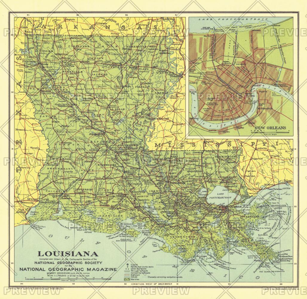 Louisiana - Published 1930