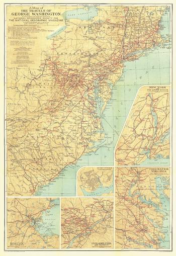 Travels of George Washington - Published 1932
