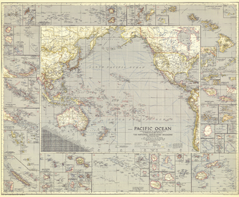 Pacific Ocean  -  Published 1936