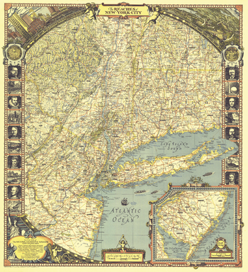 Reaches of New York City  -  Published 1939