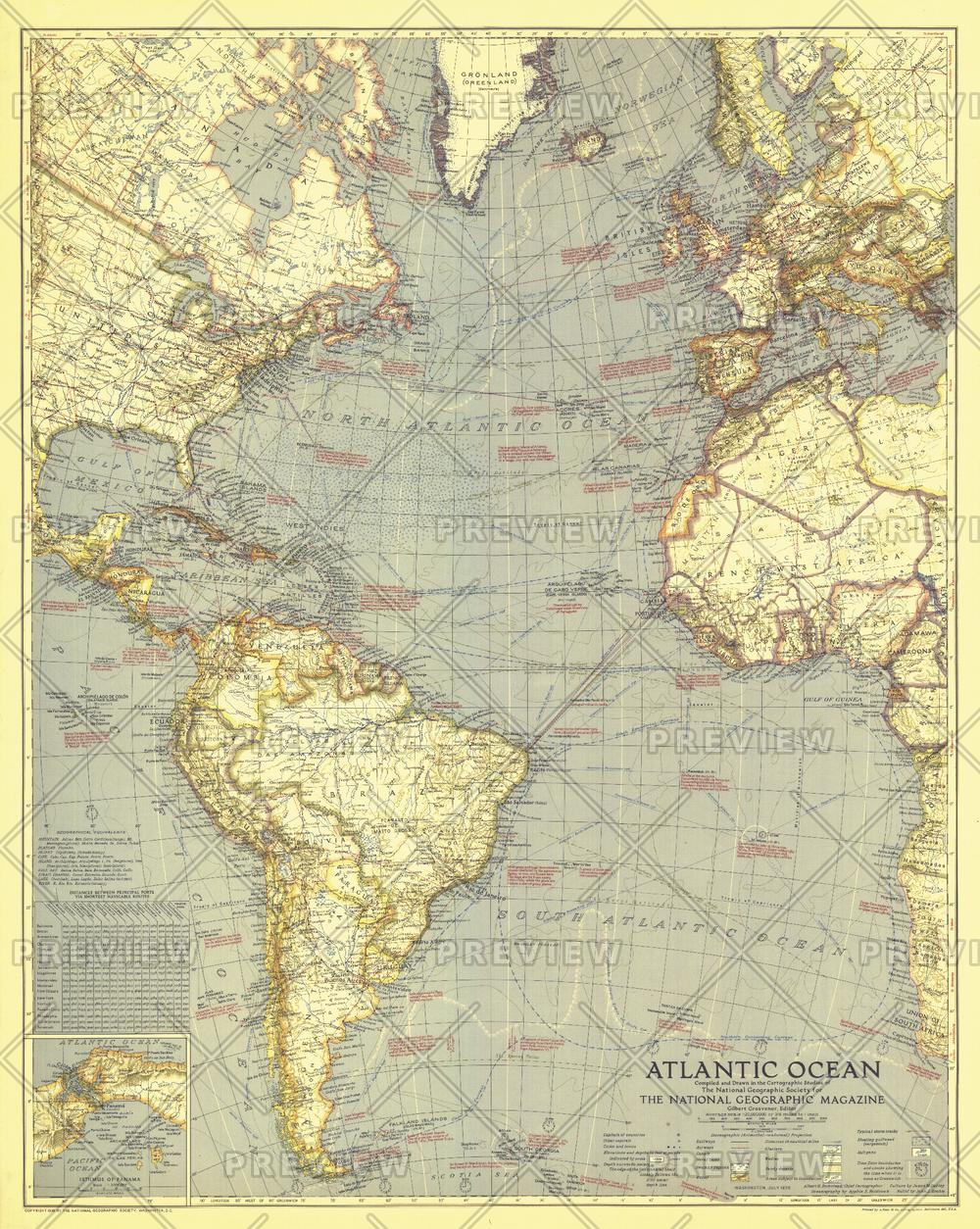 Atlantic Ocean  -  Published 1939