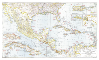 Mexico, Central America and the West Indies  -  Published 1939
