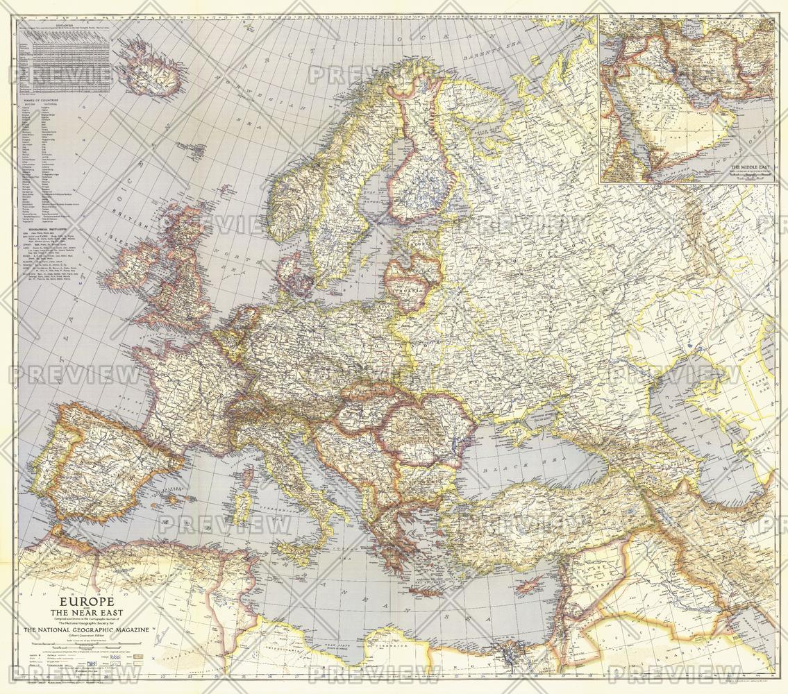 Europe and the Near East  -  Published 1940
