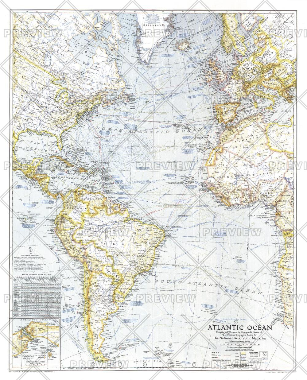 Atlantic Ocean  -  Published 1941