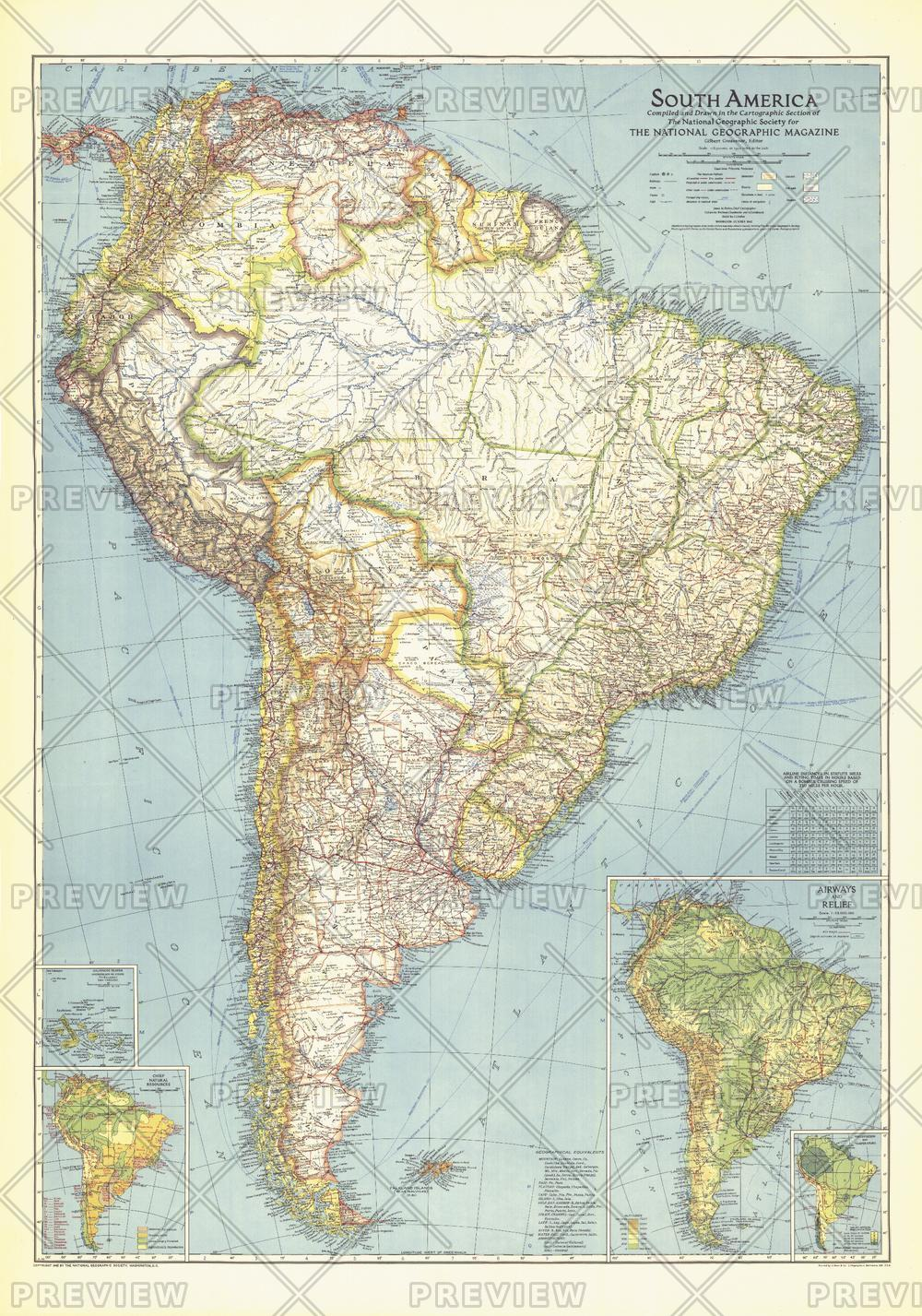 South America Published 1942