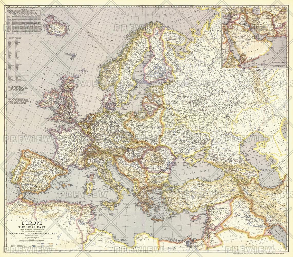 Europe, and the Near East  -  Published 1943