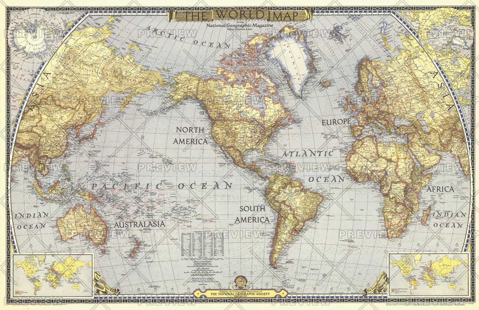 World Map - Published 1943