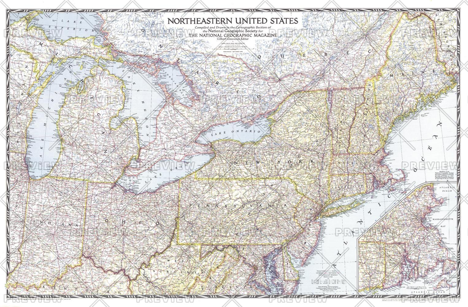 Northeastern United States - Published 1945