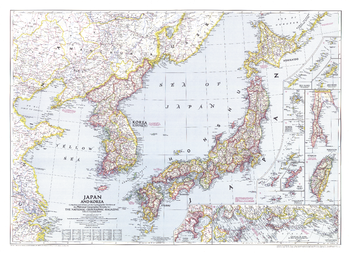 Japan and Korea  -  Published 1945
