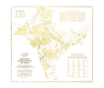 Political Subdivisions of India  -  Published 1946