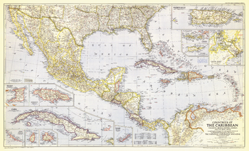 Countries of the Caribbean  -  Published 1947