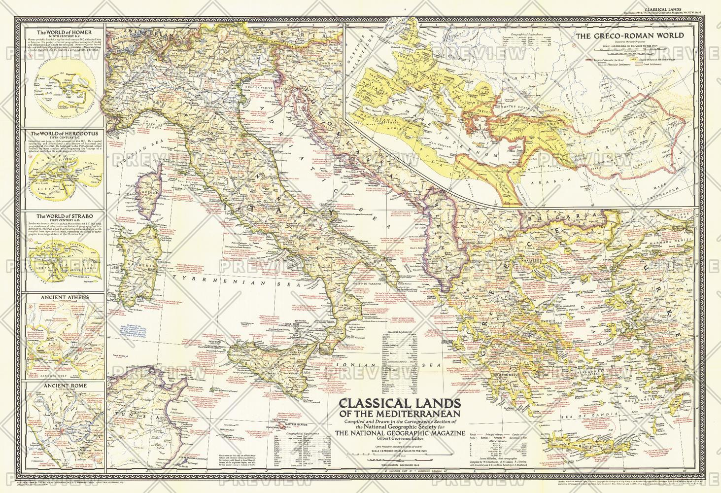 Classical Lands of the Mediterranean  -  Published 1949
