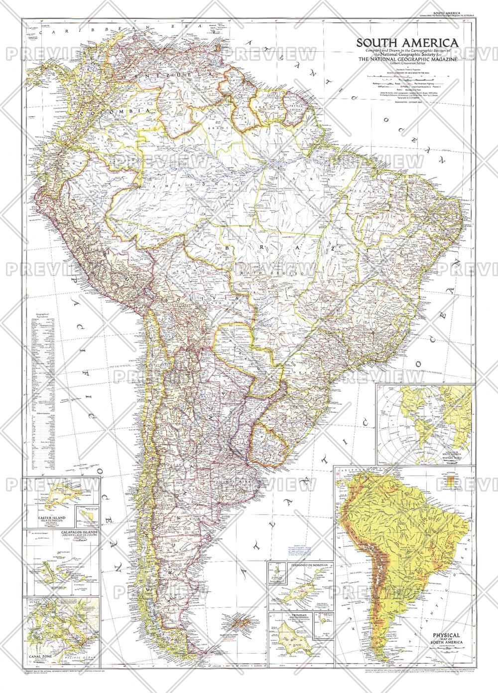 South America  -  Published 1950