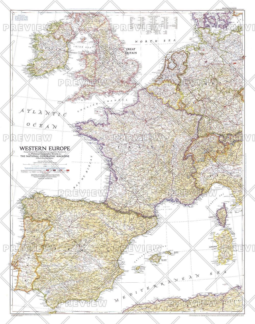 Western Europe  -  Published 1950