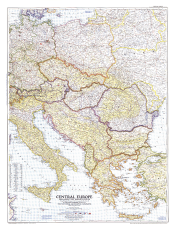 Central Europe  -  Published 1951