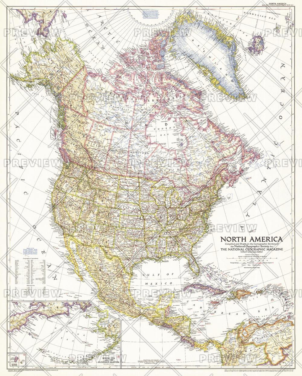 North America  -  Published 1952