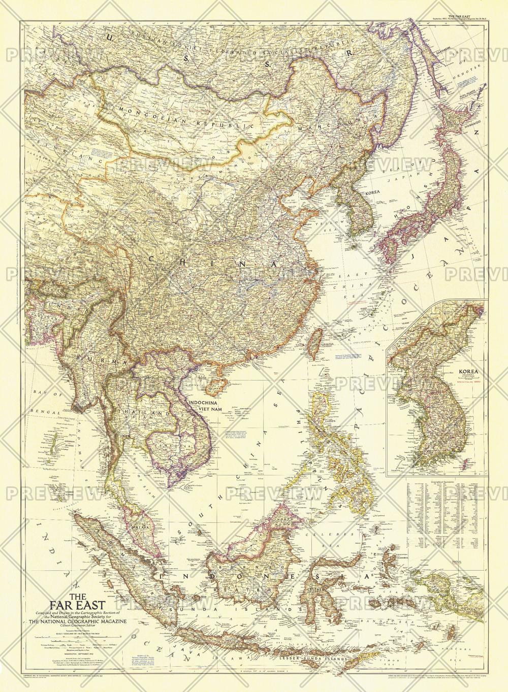 The Far East  -  Published 1952