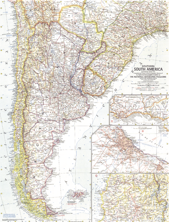Southern South America  -  Published 1958