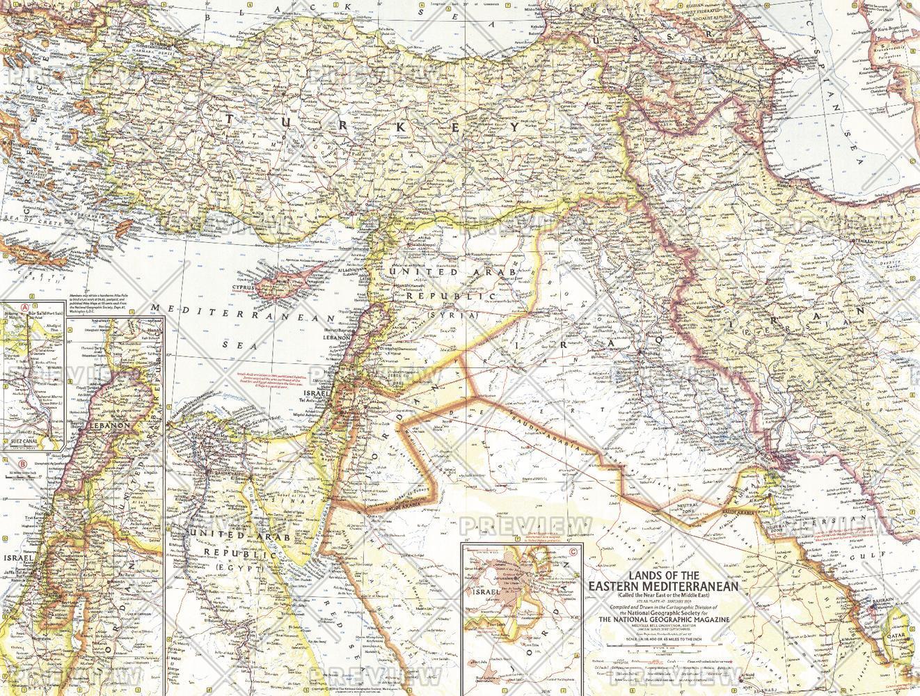 Lands of the Eastern Mediterranean  -  Published 1959