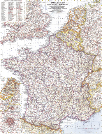France, Belgium and the Netherlands  -  Published 1960