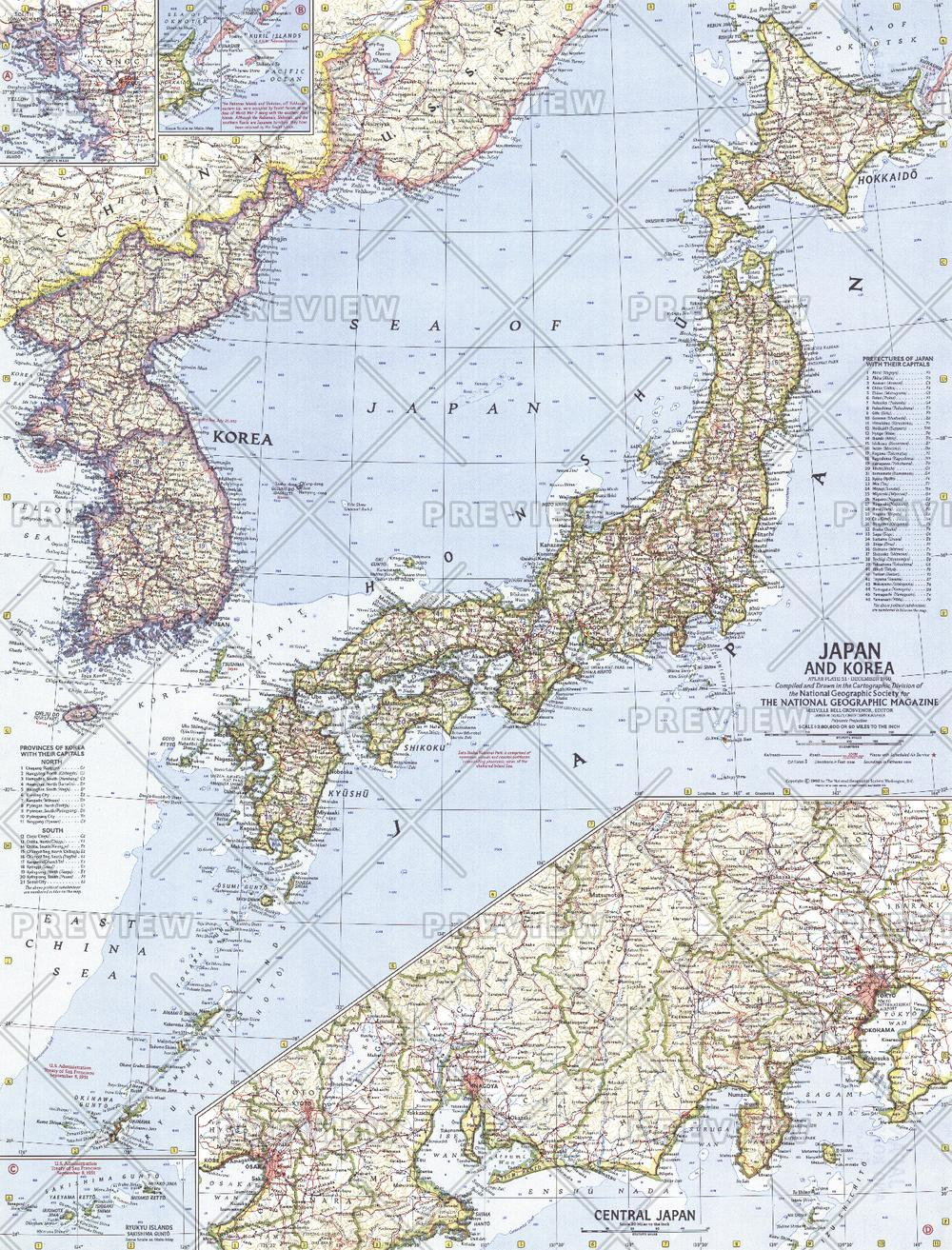 Japan and Korea  -  Published 1960