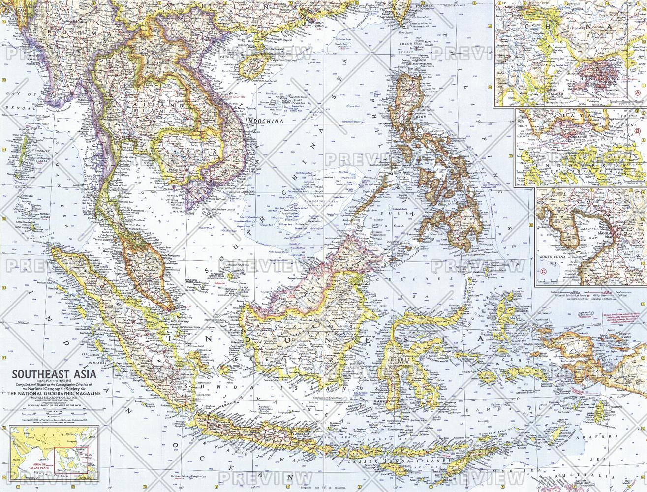 Southeast Asia  -  Published 1961