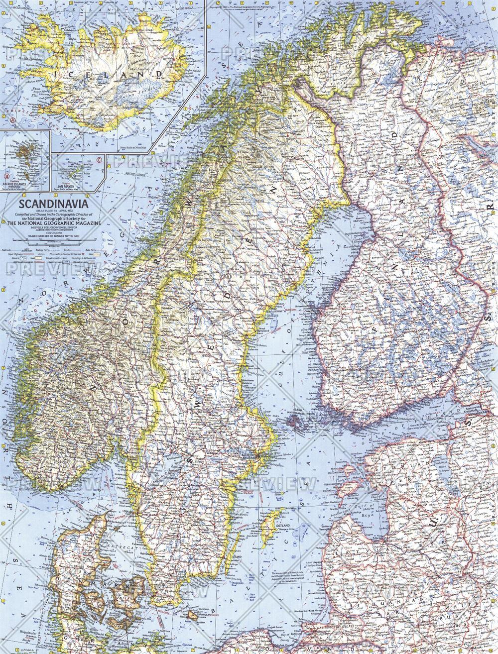 Scandinavia  -  Published 1963