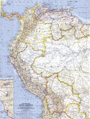 Northwestern South America  -  Published 1964
