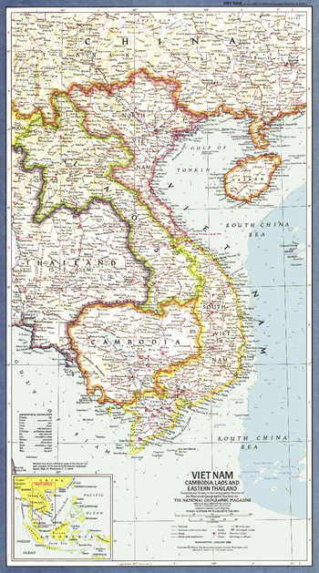 Vietnam, Cambodia, Laos and Eastern Thailand  -  Published 1965