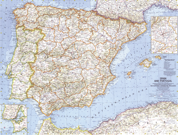 Spain and Portugal - Published 1965