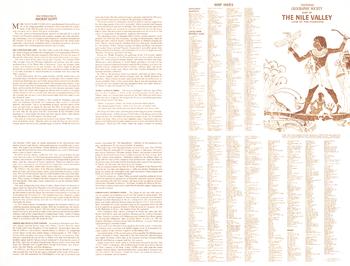 Nile Valley, Land of the Pharaohs Index - Published 1965