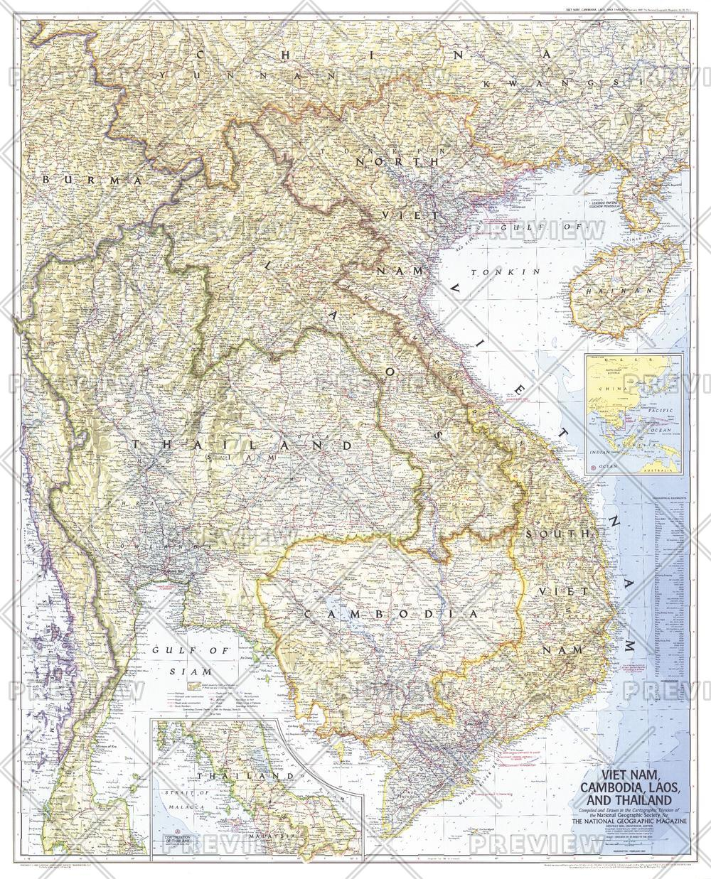 Vietnam, Cambodia, Laos, and Thailand  -  Published 1967