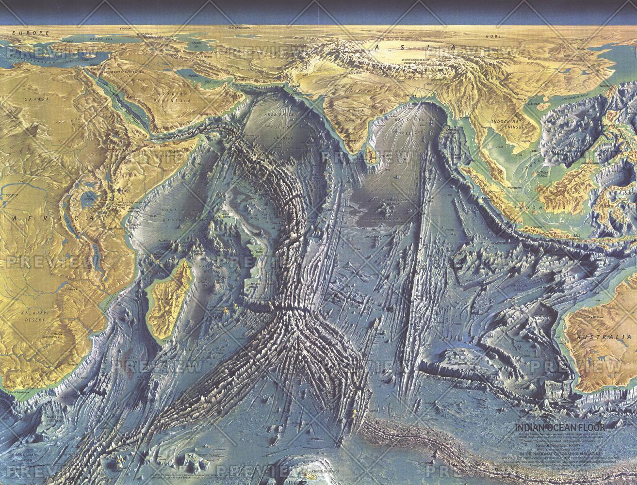 Indian Ocean Floor  -  Published 1967