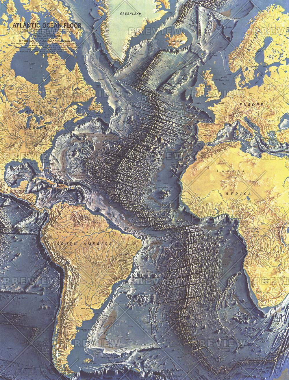 Atlantic Ocean Floor  -  Published 1968