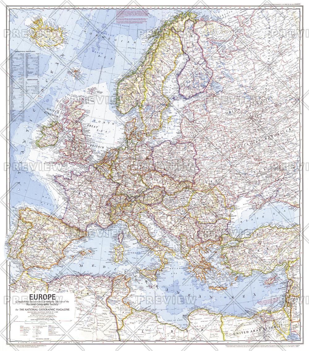 Europe  -  Published 1969