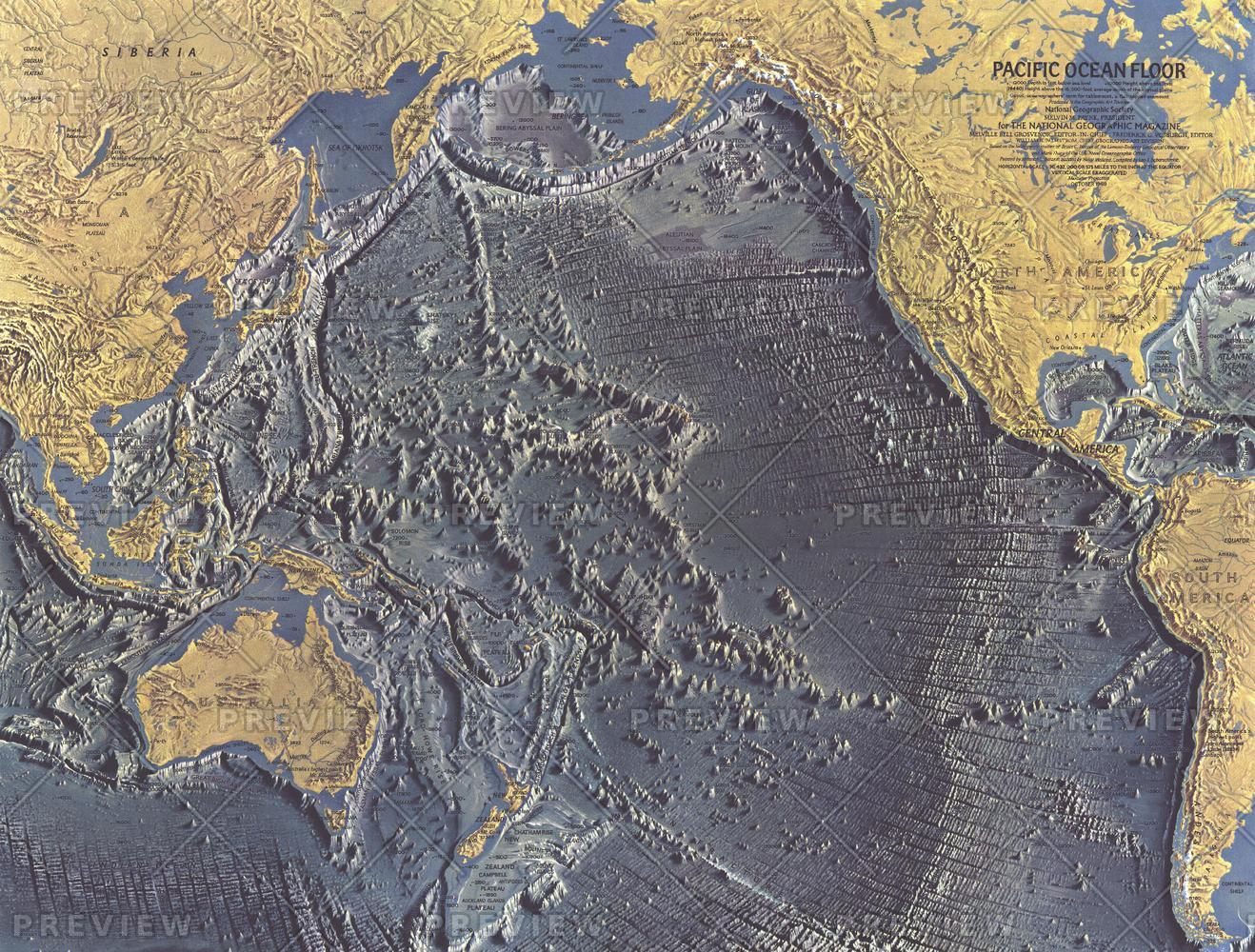 Pacific Ocean Floor  -  Published 1969