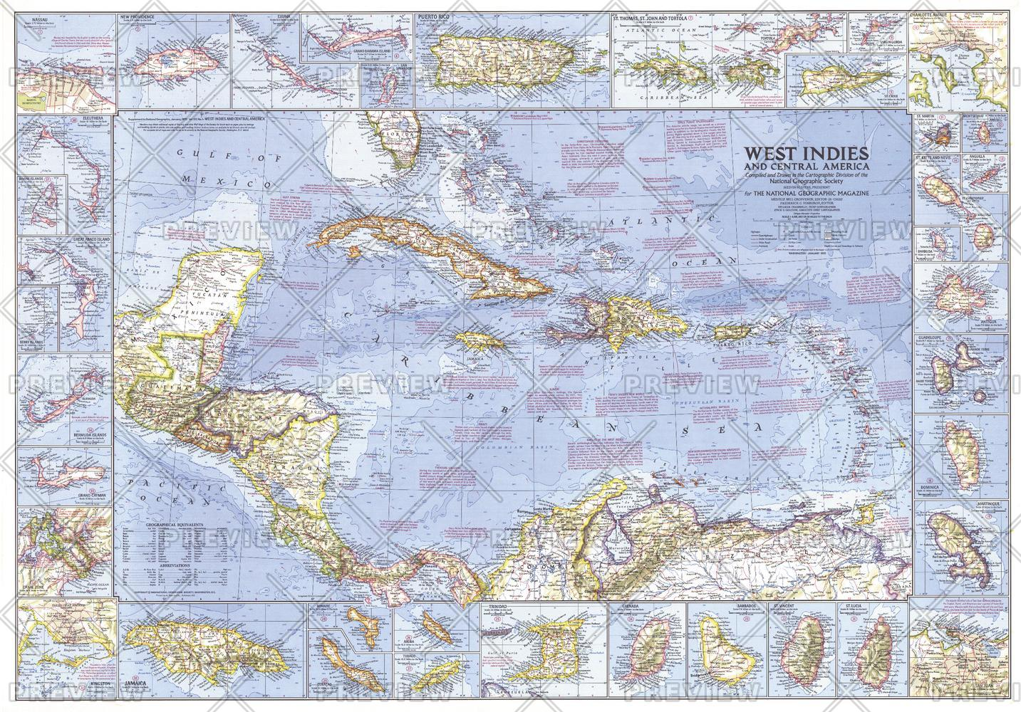 West Indies and Central America  -  Published 1970