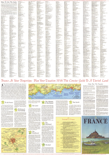 Travelers Map of France Theme - Published 1971