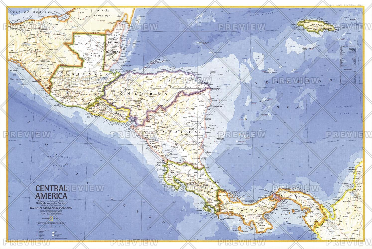 Central America  -  Published 1973