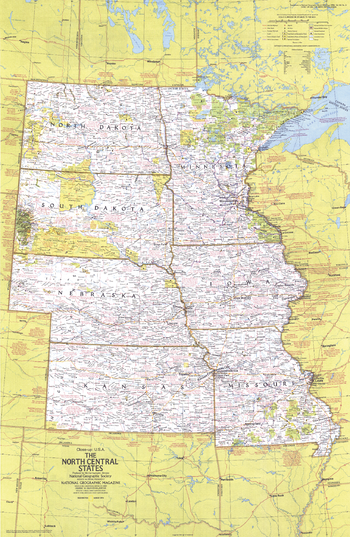 Close-up USA, North Central States  -  Published 1974