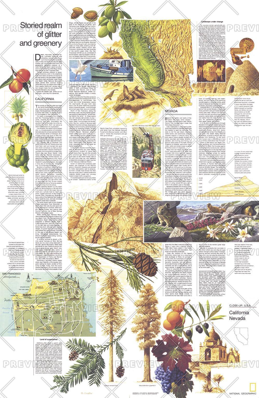 Close-up USA, California and Nevada Theme - Published 1974
