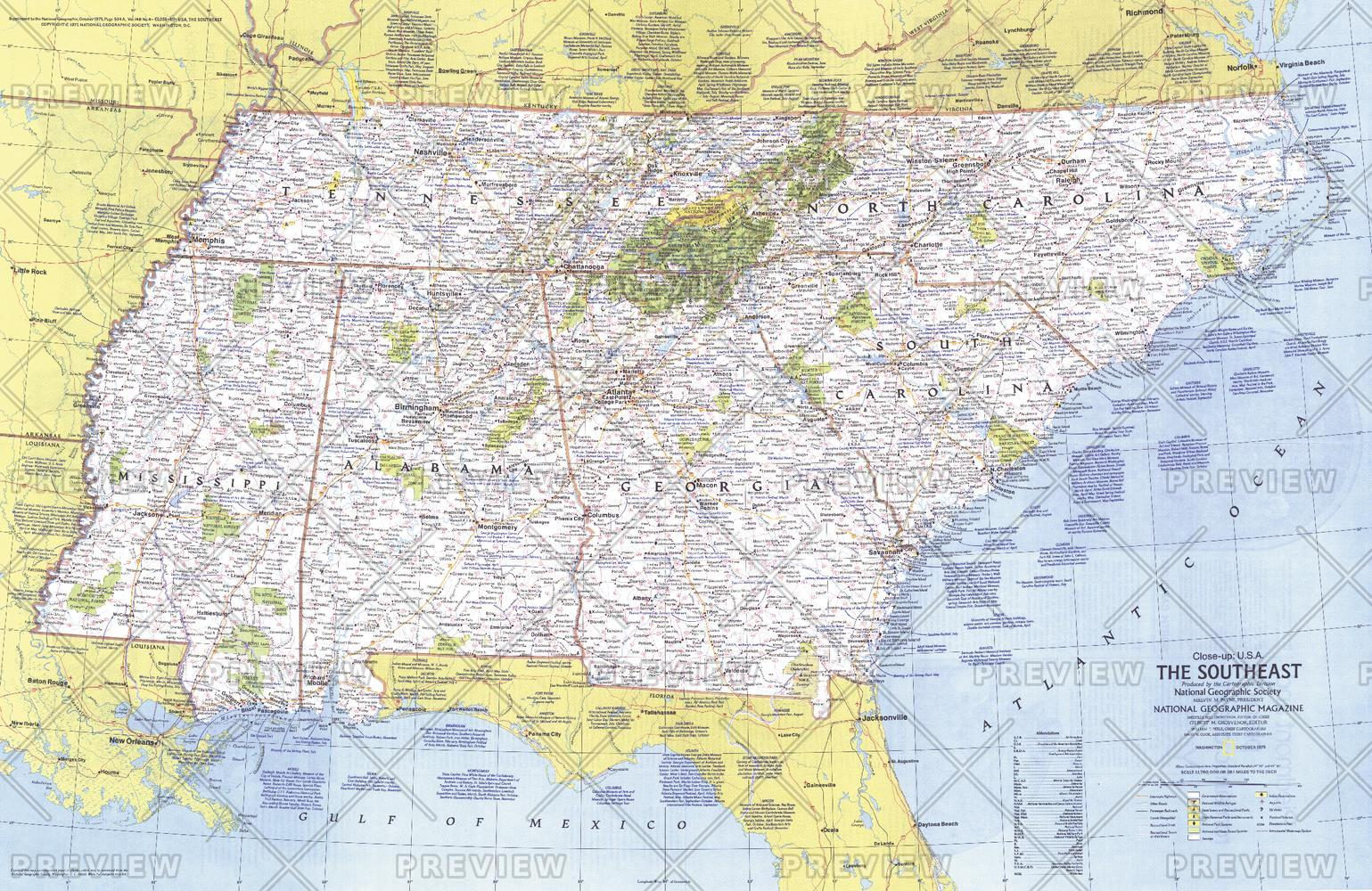 Close-up USA, the Southeast - Published 1975