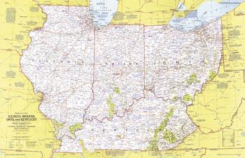 Close-up USA, Illinois, Indiana, Ohio, Kentucky - Published 1977