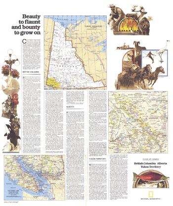 British Columbia, Alberta and the Yukon Territory Theme - Published 1978