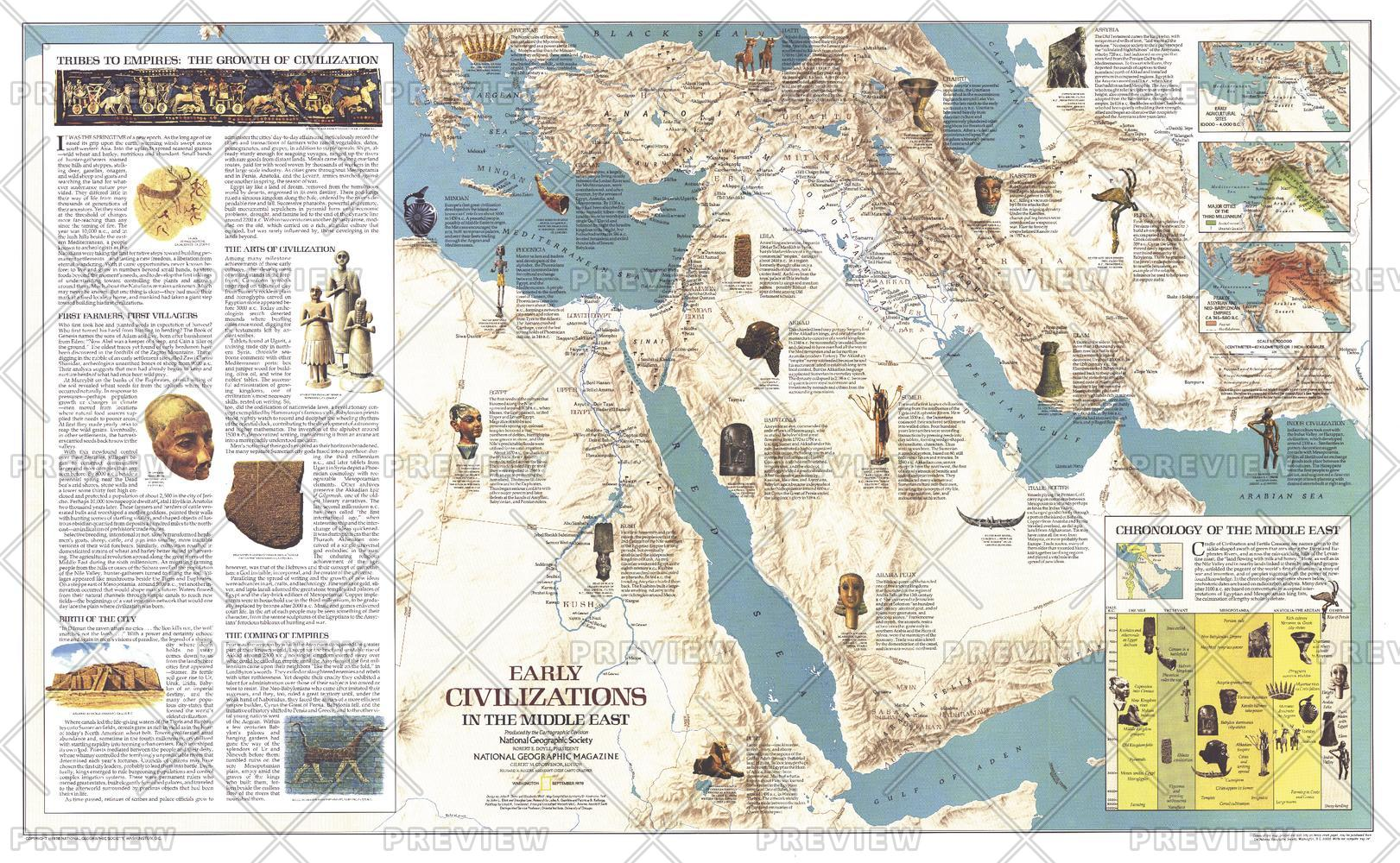 Early Civilizations in the Middle East  -  Published 1978