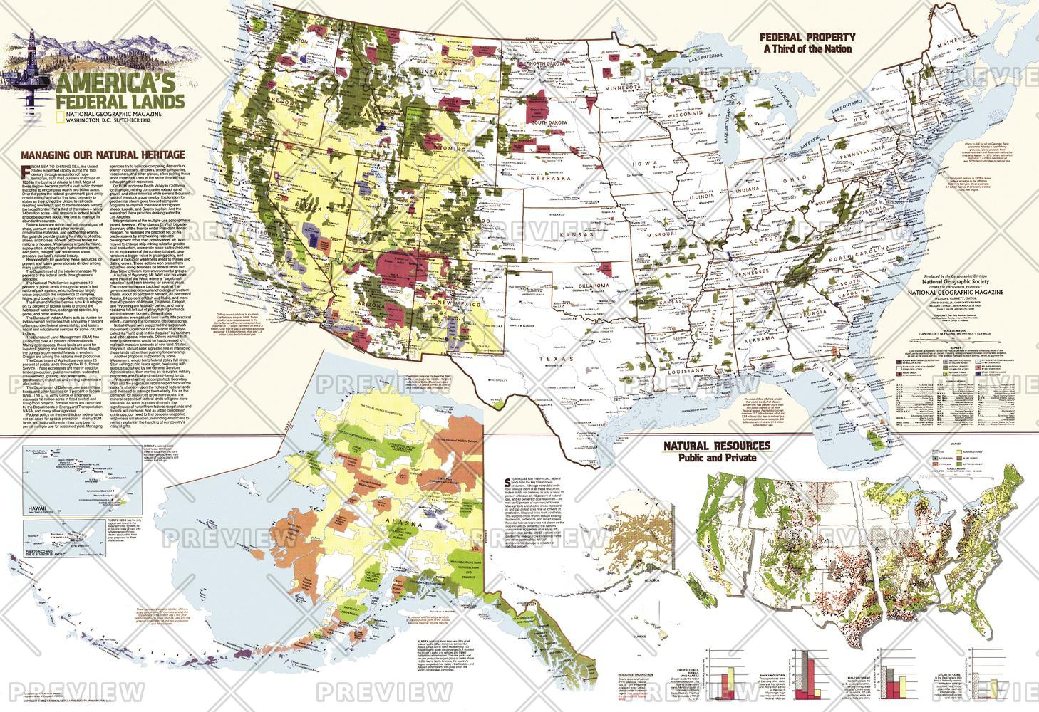 United States Federal Lands  -  Published 1982